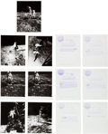 Explorers:Space Exploration, Apollo 11: Collection of Thirteen Original NASA Lunar SurfacePhotos....
