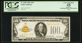 Small Size:Gold Certificates, Fr. 2405 $100 1928 Gold Certificate. PCGS Apparent Extremely Fine 45.. ...