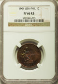 Philippines:U.S. Philippines, 1904 1C PR66 Red and Brown NGC. PCGS Population (2/0). ...