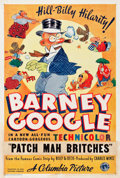 "Movie Posters:Animation, Barney Google's Patch Mah Britches (Columbia, 1935). One Sheet (27"" X 41"") Style B.. ..."