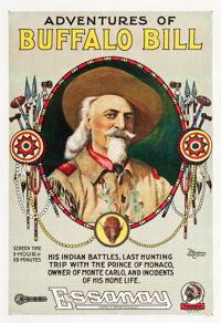 "Adventures of Buffalo Bill (Essanay, 1917). One Sheet (28.5"" X 42"")"