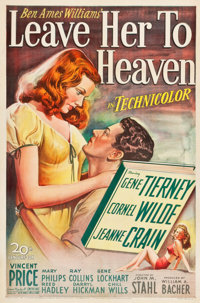 """Leave Her to Heaven (20th Century Fox, 1945). One Sheet (27"""" X 41"""")"""