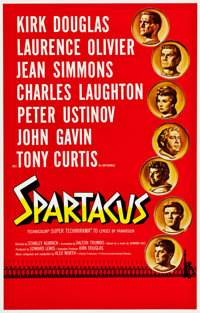 "Spartacus (Universal International, 1960). One Sheet (27"" X 41"") International Road Show"