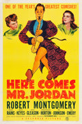 "Movie Posters:Fantasy, Here Comes Mr. Jordan (Columbia, 1941). One Sheet (27"" X 40.5"")Style A.. ..."