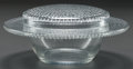Glass, R. LALIQUE NIPPON CONFITURIER, Circa 1933. M p. 817, No. 3899. Ht. 3 in.. ... (Total: 2 Items)