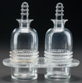 Glass, R. LALIQUE LARGE NIPPON OIL AND VINEGAR CRUET, Circa 1933. M p. 818, No. 3904. Ht. 6-3/4 in.. ... (Total: 5 Items)