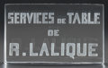 Art Glass:Lalique, R. LALIQUE SERVICES DE TABLE PLAQUE, Circa 1931. M p.475, No. G. Ht. 3-3/4 in.. ...