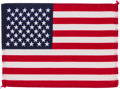 Explorers:Space Exploration, Apollo 11 Flown American Flag Originally from the Personal Collection of Mission Lunar Module Pilot Buzz Aldrin, with LOA. ...
