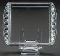 Art Glass:Lalique, R. LALIQUE ERMITAGE CHEESE PLATE, Circa 1938. M p. 821,No. 3917. L. 10 in.. ...