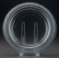 Art Glass:Lalique, R. LALIQUE RICQUEWIHR COUPE, Circa 1935. M p. 766, No.3320. Di. 13-1/2 in.. ...