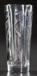 Art Glass:Lalique, R. LALIQUE SIX FIGURINES GOBLET WITH CHARCOAL, Circa 1911.M p. 768, No. 3400. Ht. 3-7/8 in.. ...