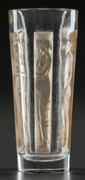 Art Glass:Lalique, R. LALIQUE SIX FIGURINE GOBLET WITH SEPIA PATINA, Circa1911. M p. 768, No. 3400. Ht. 3-7/8 in.. ...