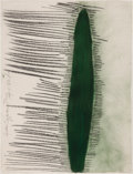 Post-War & Contemporary:Contemporary, DONALD SULTAN (American, b. 1951). Green Cyprus Tree, August14, 1982. Pastel and charcoal on Arches paper. 29-7/8 x 22-...