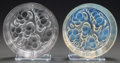 Art Glass:Lalique, TWO R. LALIQUE MARIENTHAL CONFITURIERS, Circa 1924. 1opalescent.. M p. 813, No 3877. Di. 6-1/2 in.. ... (Total: 2Items)