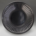 American Indian Art:Pottery, A SAN ILDEFONSO BLACKWARE PLATE. Maria and Santana Martinez. c.1950...