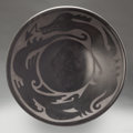 American Indian Art:Pottery, A SANTA CLARA BLACKWARE PLATE. Margaret Tafoya. c. 1950...