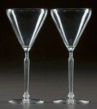 A PAIR OF R. LALIQUE CLOS SAINTE-ODILE DEGUSTATION STEMS, Circa 1921 M p. 805