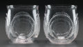 Art Glass:Lalique, A PAIR OF R. LALIQUE SPIRALES GOBLETS, Circa 1925. M p.768, No. 3405. Ht. 3-1/8 in.. ... (Total: 2 Items)