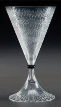 Glass, R. LALIQUE CLEAR AND BLACK VRILLES DE VIGNE STEM, Circa 1921. M p. 807, No. 3757. Ht. 7 in.. ...