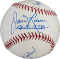 Autographs:Celebrities, Apollo 13: James Lovell Signed Major League Baseball withAdditional Handwritten Remarks....