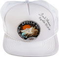Explorers:Space Exploration, Apollo 13 Mission Insignia Hat Signed by Haise. ...