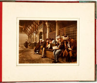 [Constantinople]. Travel Souvenir: Large Album of Hand-Tinted Photographs Depicting Scenes of Daily Life in Constantinop...