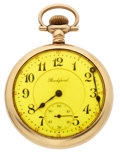 Timepieces:Wristwatch, Rockford 21 Jewel Open Face Pocket Watch. ...