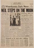 Explorers:Space Exploration, Neil Armstrong Hometown Newspaper Collection of Ten Original 1969Wapakoneta Daily News Issues....