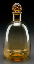 Art Glass:Lalique, R. LALIQUE AMBER THOMERY CARAFE, Circa 1931. M p. 847,No. 5252. Ht. 9-1/2 in.. ... (Total: 2 Items)