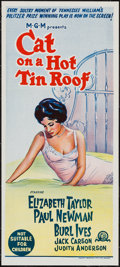 "Movie Posters:Drama, Cat on a Hot Tin Roof (MGM, R-1966). Australian Daybill (13"" X 30""). Drama.. ..."