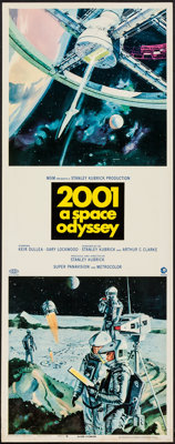 """2001: A Space Odyssey (MGM, 1968). Insert (14"""" X 36""""). Science Fiction"""