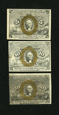 Fractional Currency:Second Issue, Fr. 1234 5c Second Issue Choice New. Fr. 1245 10c Second Issue Choice New. Fr/ 1317 50c Second Issue Choice New.. ... (Total: 3 notes)