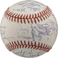 Autographs:Baseballs, 1990 Oakland A's Team Signed Baseball. The 1990 Oakland A's played in and lost the World Series that year. Pitted against t...