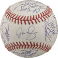 Autographs:Baseballs, 1993 Philadelphia Phillies Team Signed Baseball. With thePhiladelphia Phillies down in the 1993 World Series 3 games to2,...