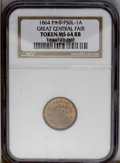 Miscellaneous: , 1864 Token Great Central Fair MS64 Red and Brown NGC. PA F-750L-1A. (#661864)...