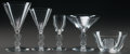 Art Glass:Lalique, R. LALIQUE STRASBOURG PART SERVICE, Circa 1926. 1water stem, 3 bourgogne stems, 2 liqueur stems, 4 ... (Total: 15Items)
