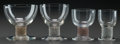 Art Glass:Lalique, R. LALIQUE RICQUEWIHR PART SERVICE, Circa 1925. 3 bordeauxstems, 1 madere stem with sepia patina, 1 madere stem... (Total: 8Items)