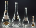 Art Glass:Lalique, FOUR R. LALIQUE CLOS SAINTE-ODILE CARAFES, Circa 1922. Largecarafe with frosted glass and labels, large carafe ... (Total: 4Items)