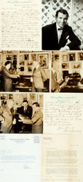 Autographs:Celebrities, Large Group of Autograph and Typed Letters Signed. Various dates.Includes: Dennis Day, William W. Bowers, Eugene Ormandy, G...