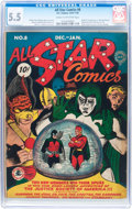 Golden Age (1938-1955):Superhero, All Star Comics #8 (DC, 1942) CGC FN- 5.5 Cream to off-white pages....