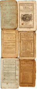 Books:Americana & American History, [Almanacs] Group of Six Miscellaneous Almanacs. [Variouspublishers, 1790-1816]. Original wrappers. Toned and edgeworn.Some... (Total: 6 Items)