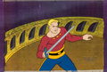 Animation Art:Production Cel, New Adventures of Flash Gordon Flash Gordon Production Celwith COA Animation Art (Filmation, 1979).... (Total: 3 Items)