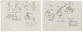 Animation Art:Production Drawing, Donald Duck Model Sheet Group (Disney, 1939-40).... (Total:2 Items)