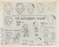 animation art:Model Sheet, Autograph Hound Model Sheet Group (Disney, 1939).... (Total: 3 Items)