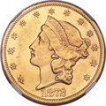 Liberty Double Eagles, 1872 $20 -- Improperly Cleaned -- NGC Details. Unc....