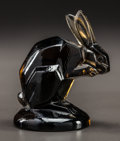 Art Glass:Lalique, R. LALIQUE DEEP TOPAZ GLASS LAPIN SEAL. Circa 1925. EngravedR. Lalique. M p. 254, No. 214. Ht. 2-1/4 i...