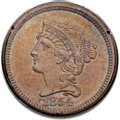 Patterns, 1854 P1C One Cent, Judd-160, Pollock-187, R.4, MS64 Brown PCGS....