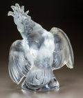 Art Glass:Lalique, LALIQUE CLEAR AND FROSTED GLASS COCKATOO. Post 1945. EngravedLalique, France. Ht. 11-3/4 in.. ...