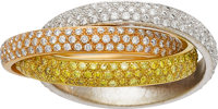 Colored Diamond, Diamond, Gold Ring