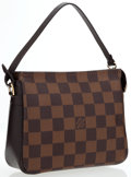 Luxury Accessories:Accessories, Louis Vuitton Damier Ebene Canvas Trousse Bag. ...